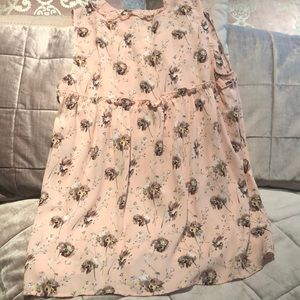 PLEIONE Pink Floral Ruffle Sleeveless Blouse NWOT